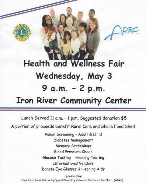 Iron-River-Lions-Club-Health-Fair-5.3.17